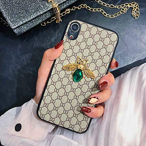 NiceGuu Luxury 3D Bee Phone Case for Samsung Galaxy S8 S9 S10 Plus Note10 Plus 8 9 Leather Hard Phone Cover (for Galaxy S9 Plus)