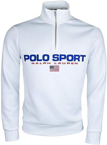 Ralph Lauren T-Shirt col Rond gris Polo Sport pour Homme