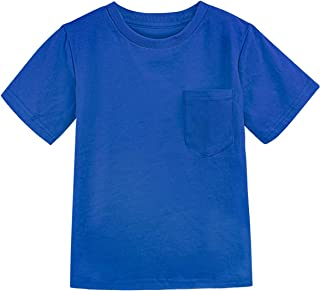COSLAND Toddler & Kids Boys' Heavyweight Pocket T-Shirt