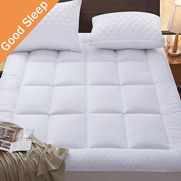 SONORO KATE Mattress Pad Twin XL Cover Cotton Down Alternative Fitted Quilted 8 21 Inch Deep Pocket Mattress Topper Fill Cooling Hypoallergenic