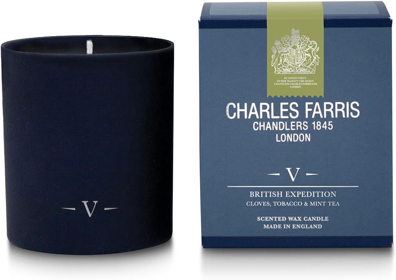 Charles Farris    British Expedition Home Scents Kerze, Glas, blau B01BNRVU0M ec54c6
