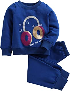 Hopscotch Peaches Girls Polyester Track Suit with Head Phone Sweatshirt in Royal Blue Color