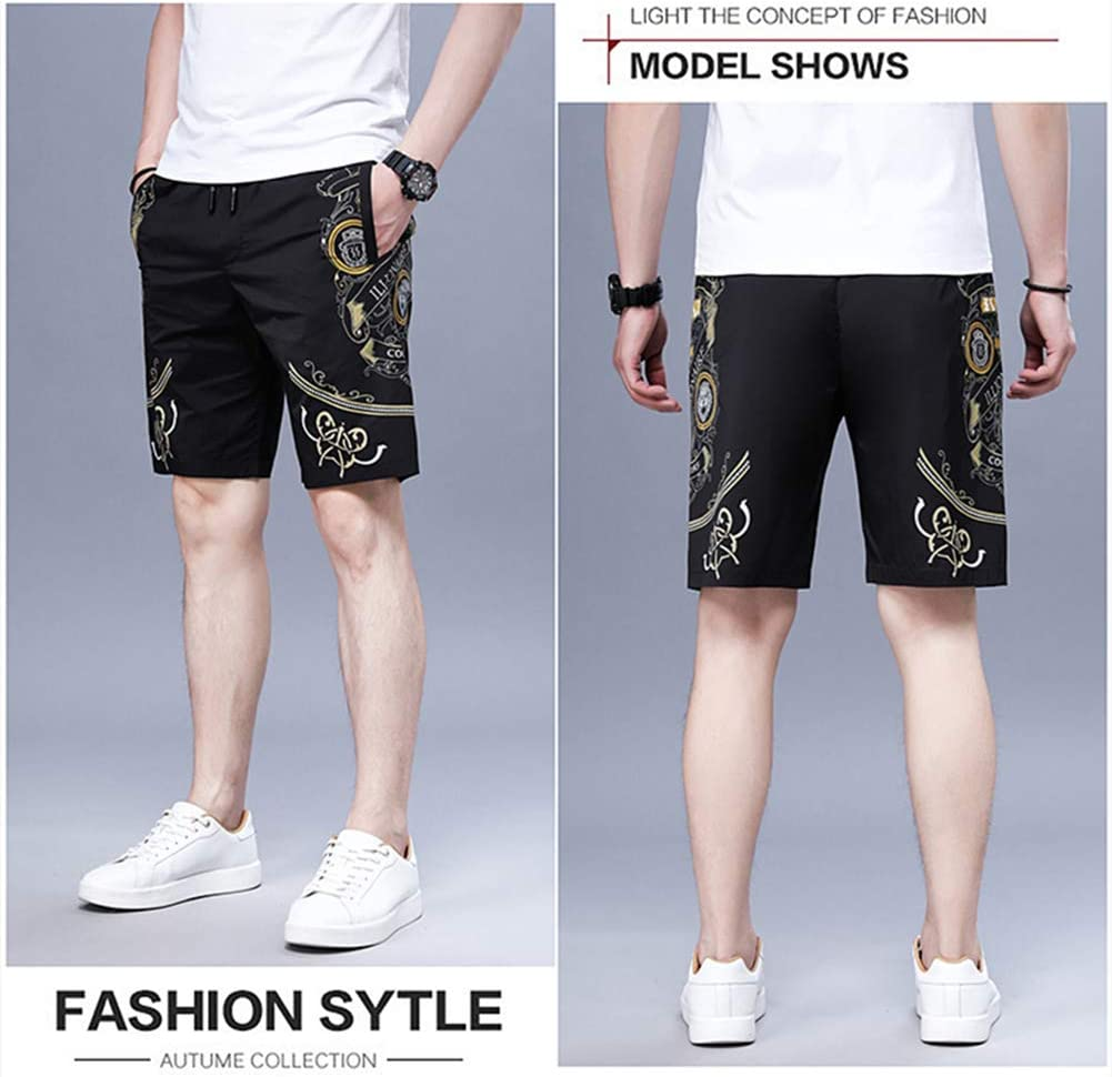 Casual Summer Shorts for Men, Lightweight and Bequems,Black,XXXL