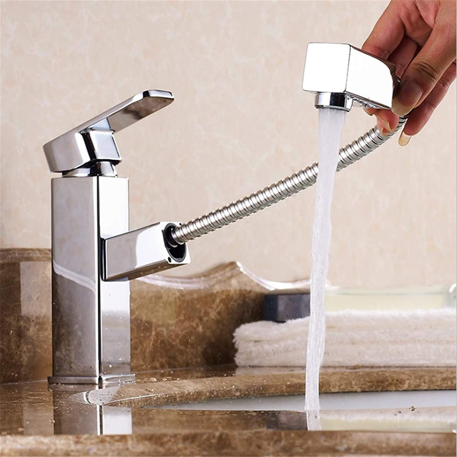 Bathroom Basin Taps Mixer, Hot And Cold Water Mixer Sink Tap, Copper Wash Basin Faucet
