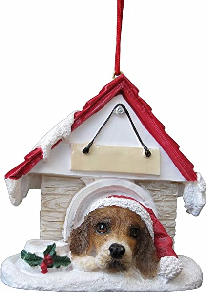 Beagle Ornament A Great Gift For Beagle Owners Hand Painted And Easily Personalized Doghouse Ornament With Magnetic Back