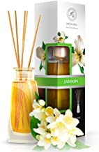 Aromatika Jasmine Reed Diffuser 3.4oz 100ml - Diffuser Gift Set - Best for Aromatherapy - Home - Great Room Air Fresheners - Jasmin Essential Oil Diffuser