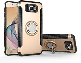 Case for Samsung SM-G611FF/DS Galaxy J7 Prime 2 Duos/Galaxy On7 Prime 2018 SM-G611L SM-G611K SM-G611S Case Cover + 360 Degree Rotating Ring Holder Kickstand Gold
