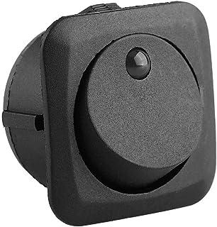 Keenso 4Stk 12V 25A Auto Rocker Runde Schalter LED Schalter LED Dot Licht SPST ON OFF Rocker Kippschalter 3 Pin Gelb