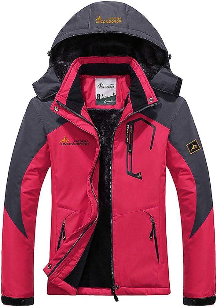 Women's 2021 model Outdoor Windproof Fleece Ski Coat Jacket Ros famous Hooded Rain