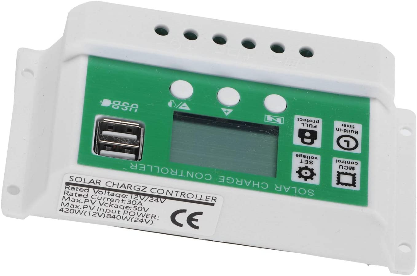 Max 76% OFF New item FECAMOS LCD Solar Charge Controller Cont