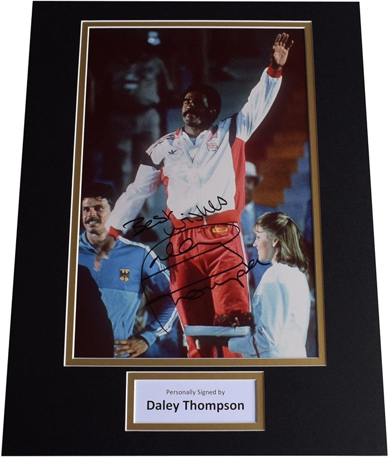 Sportagraphs Daley Thompson SIGNED autograph 16x12 photo display Olympic Decathlon AFTAL COA