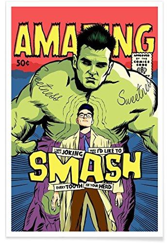 Juniqe® Affiche 40x60cm Pop Art - Design Post-Punk Smash (Format : Portrait) - Poster, Tirages d'art & Tableaux par des Artistes indépendants créé par Butcher Billy