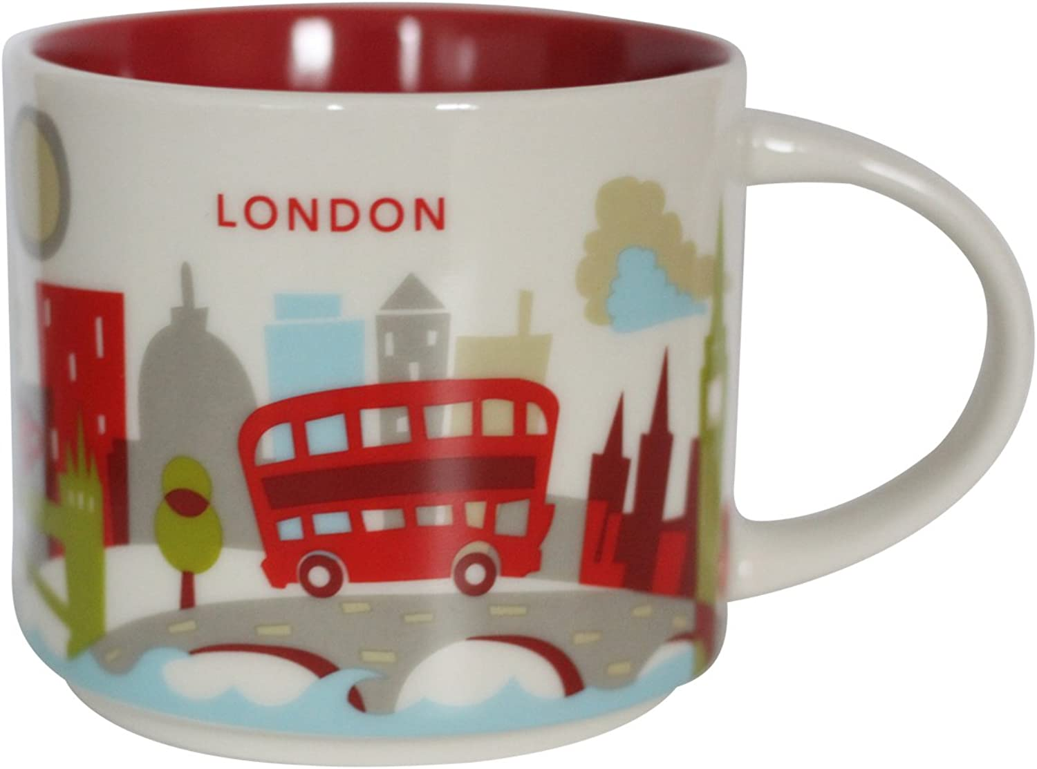 New Starbucks London You are Here Mug Coffee Cup Big Ben Gherkin St Pauls Eye Thames Tower Bridge YAH Coffee Cup