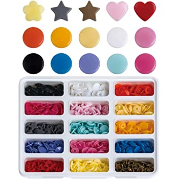 370 sets Plastic Resin Snaps No-Sew Button Fasterner Size 20 T5 For Diapers// Bibs// Crafts Baby Cloth Bib Diapers 37 Colors Replacement.