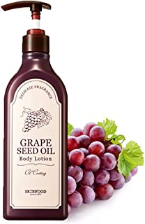 SKINFOOD Grape Seed Oil Body Lotion 11.3 fl.oz. (335ml) - Vitamin E Nutrient Rich Grape Seed Oil and Wine Extract Containe...