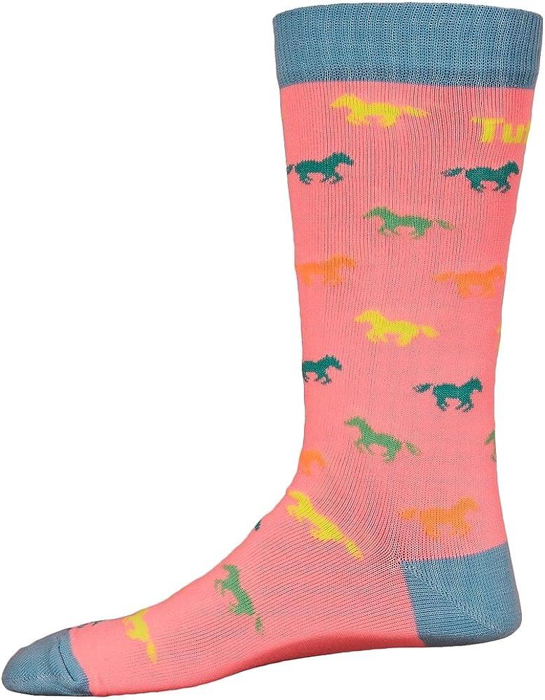 TuffRider Childs Neon Pony Socks,Neon Peach,std ch