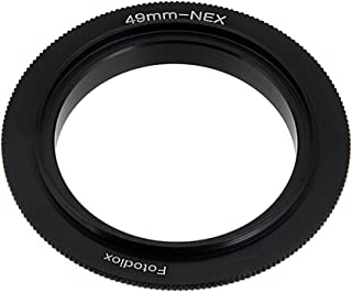 Fotodiox 49mm Filter Thread Macro Reverse Mount Adapter Ring for Sony E-Series Camera, fits Sony NEX-3, NEX-5, NEX-5N, NEX-7, NEX-7N, NEX-C3, NEX-F3, Sony Camcorder NEX-VG10, VG20, FS-100, FS-700