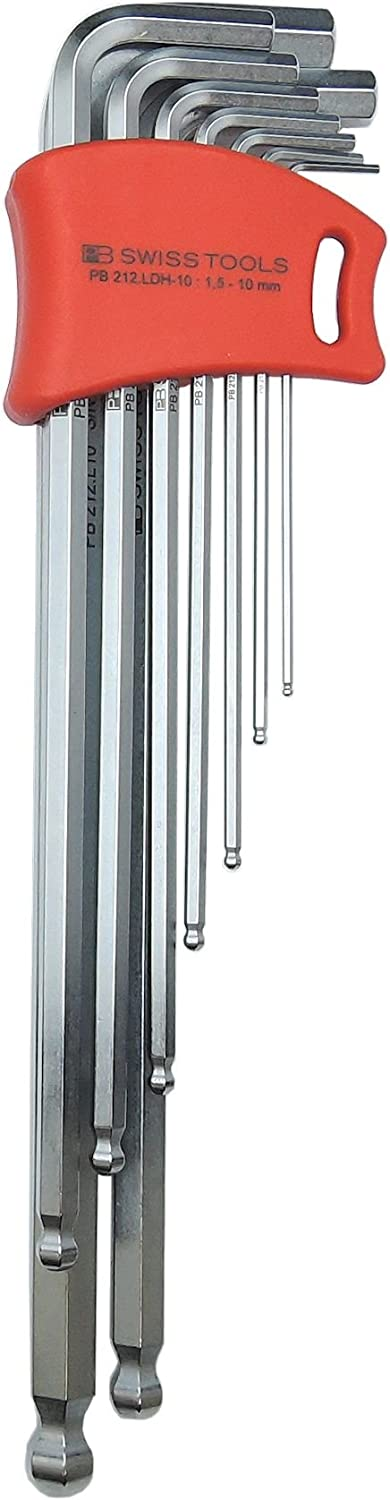 PB Swiss Challenge the lowest price of Japan Tools 212LDH-10 Ballend hex Trust double long holder set