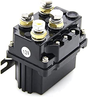 12V 500A Winch Solenoid Relay- with Powder Coated Finish- for ATV UTV 4X4 Truck Boat - Winch Contactor Rocker Switch Thumb (12V 500A)