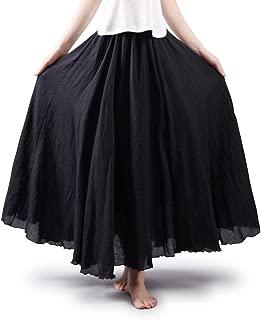 Best black linen skirt Reviews