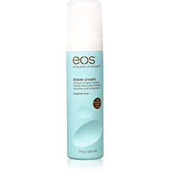 eos Shea Better Shaving Cream for Women - Tropical Fruit   Shave Cream, Skin Care and Lotion with Shea Butter and Aloe   24 Hour Hydration   7 fl oz