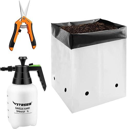 discount VIVOSUN 50-Pack 2 Gallon Grow Bags with Gardening Hand Pruner discount Pruning Shear and 34oz Hand held Garden Sprayer new arrival Pump Pressure Water Sprayers online sale
