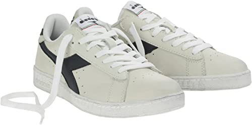 Diadora Unisex-Erwachsene Game L Low Waxed Gymnastikschuhe, Bianco