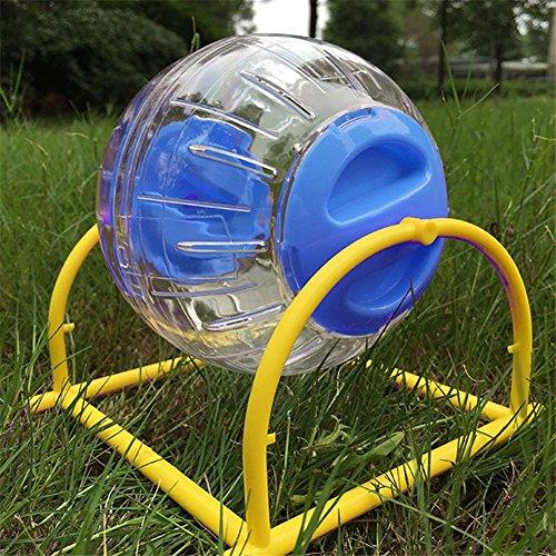 Pet Online Hamster palla ginnica in plastica con uno stent sport palla piccolo animale tapis roulant, 15cm, blu