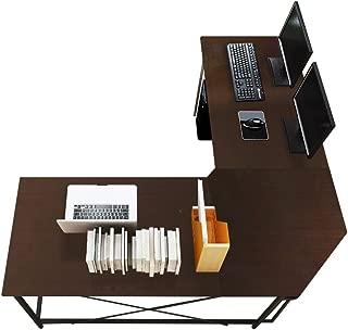 Soges 59 x 59 inches Large L-Shaped Desk Computer Desk L Desk Office Desk Workstation Desk, Black CS-ZJ02-BK