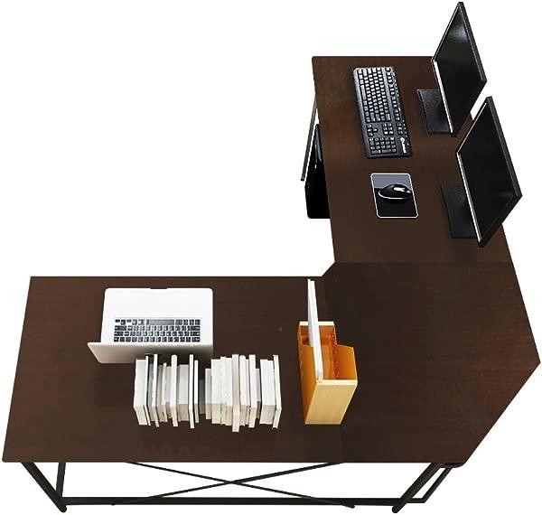 Soges 59 X 59 Inches Large L Shaped Desk Computer Desk L Desk Office Desk Workstation Desk Black CS ZJ02 BK