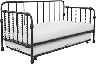 Little Seeds Monarch Hill Wren Metal Daybed with Trundle, Sofa Bed, Twin Size Frame, Black
