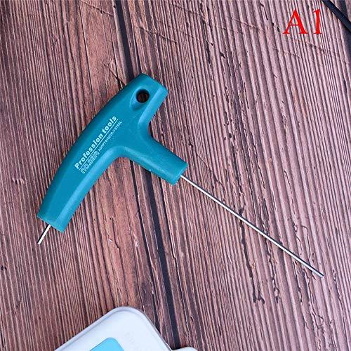 YISUNF Llaves Forma T Hex bit Consejo Llave del hexágono con Herramienta Manual de Tornillo Conductor Nueva Destornillador 1Pcs 1,5 manija Envuelta / 5/6/3 mm (Color : H1.5mm)