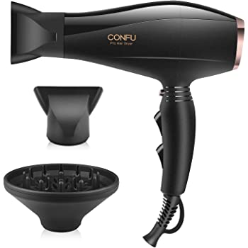Professional Salon Hair Dryer, CONFU 1875W Powerful Negative Ionic Fast Drying Blow Dryer, Superior AC Motor Hair Blow Dryer, Suitable for Men and Women, Thin, Thick, Curly and Straight Hair