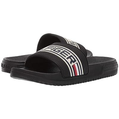 Tommy Hilfiger Kids Geo Logo Slide (Little Kid/Big Kid) (Black) Kids Shoes
