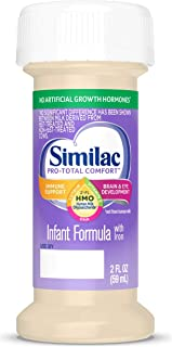 Similac Pro-Total Comfort Infant Formula with 2'-FL Human Milk Oligosaccharide (HMO) for Immune Support, Ready to Drink Bottles, 2 fl oz (48 Count)