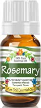 Rosemary Essential Oil (100% Pure, Natural, UNDILUTED) 10ml - Best Therapeutic Grade - Perfect for Your Aromatherapy Diffuser, Relaxation, More!