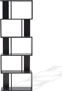 Rebecca Mobili Estantería Oficina, Estante para Libros Negro, con 5 estantes, Design contemporáneo, Muebles para el hogar- Medidas: x 172,5 x 60 x 24 cm (AxANxF) - Art. RE4786