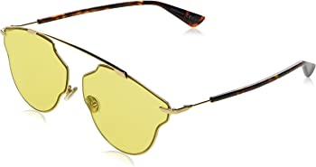 Dior Yellow Solid Aviator Unisex Sunglasses