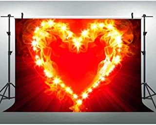 New 7x5ft Backdrop Heart-Shaped Flame Photography Background Raging Flames Party Event Portrait Photo Shoot Props Youtube ...