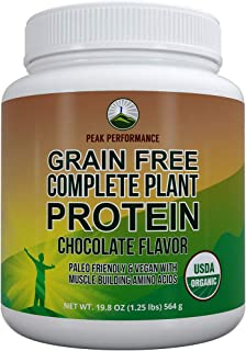 Organic Paleo Grain Free Plant Based Protein Powder. Complete Raw Organic Vegan Protein Powder. Amazing Amino Acid Profile...