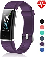 Letsfit Fitness Tracker Color Screen, IP68 Waterproof Heart Rate Monitor Activity Tracker, Pedometer Watch Sleep Monitor S...