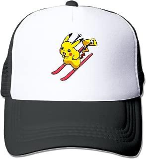 Men's Cartoon Pokemon Skiing Pikachu Popular MESH Hat Caps