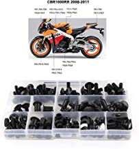 Xitomer Full Sets Fairing Bolts Kits, for Honda CBR1000RR 2008 2009 2010 2011, Mounting Kits/Washers/Nuts/Fastenings/Clips/Grommets (Matte Black)