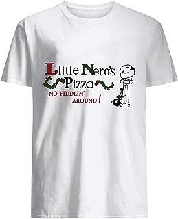 BurgerTeeUSA Little Nero's Pizza No Fiddin' Around Shirt White
