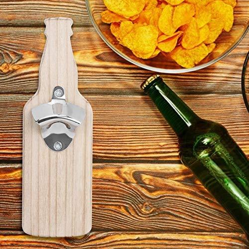 Shipenophy Abrebotellas de Vino Imán de Nevera de Acero Inoxidable único para Restaurante para Nevera(Wood Color)