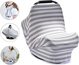 Best PPOGOO Nursing Cover for Breastfeeding Super Soft Cotton Multi Use for Baby Car Seat Covers Canopy Shopping Cart Cover Scarf Light Blanket Stroller Cover Reviews
