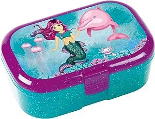 Lutz Mauder 10663 Glitterlunchbox, voor kinderen, perfect voor Nixen-fans, lunchbox, broodtrommel, school, basisschool, ee...