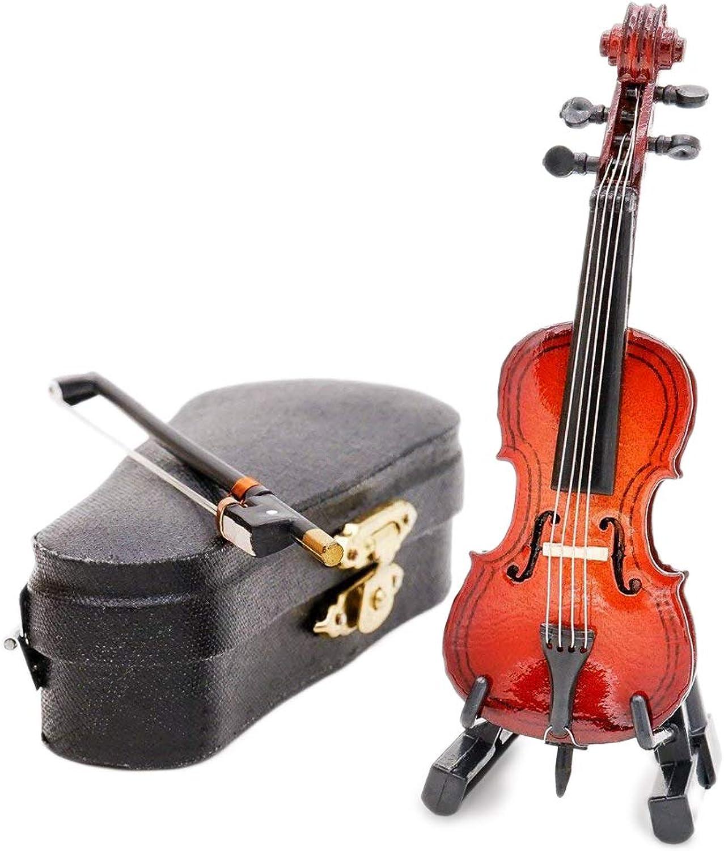 compras en linea Odoria 1 12 12 12 Cello with Bow, Stand & Case Wooden Musical Instrument Miniaure Dollhouse by Odoria  opciones a bajo precio
