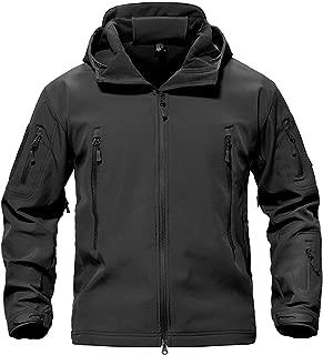 Army Camouflage Men Jacket Coat Military Tactical Jacket Waterproof Soft Shell Jackets Windbreaker Hunt Clothes,Black,XS