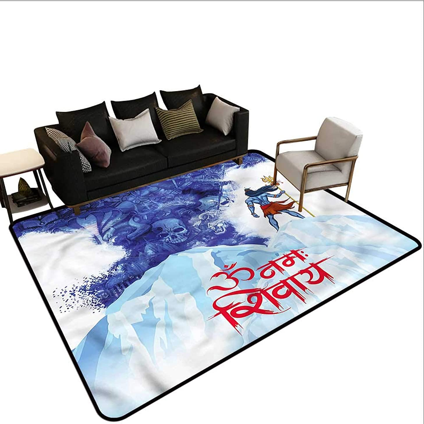 Ethnic,Large Floor Mats for Living Room 48
